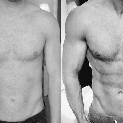 Fra 2009 til 2015 er der blevet opbygget 20 kg. muskelmasse.
