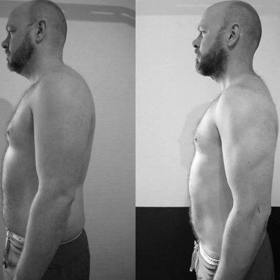 Tabte 8 kg. på 12 uger med intens personlig træning.