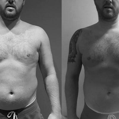Martin har tabt 10 kg. på 10 uger.